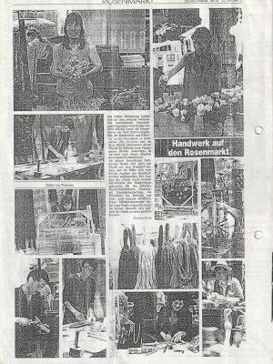 Zeitungsausschnitt Niederdorf Zürich
